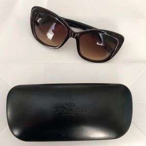 COACH tortoise cat eye sunglasses